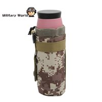 Wholesale 6 Colors Airsoft Tactical Military Water Bottle Hydration Pouch Molle System Sports D Nylon Durable Hunting Water Bag Pouches order lt no