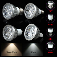 Wholesale Led bulb lighting High PowerDimmable W W W LED Spotlight Bulb Lamp E27 E14 GU10 MR16 Cool Warm White downlight lighting