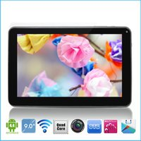 Wholesale 9 inch A33 Quad Core Tablet PC Android GB GHz Dual Camera WiFi Bluetooth capacitive touch Pad Allwinner A33 MID