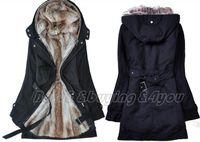 Wholesale Womens Fur Hoodies Ladies Winter Warm Long Coat Jacket Clothes Factory S XXXL On Sale