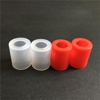 arctic red - Ecig Silicone Test Caps Wide bore Disposable Drip Tip Cover Clear Red Rubber Mouthpiece Tester For Atlantis Arctic Subtank RDA atomizer