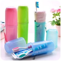 Wholesale Creative lovers washing cup cute Travel Portable brush cup toothbrush toothbrush cup cup toothbrush box set