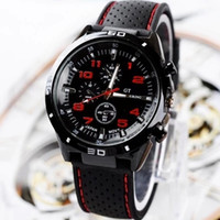 Cheap curren watch watches fo men Grand Touring GT Men Sport Quartz Watch Military Watches Army Japan PC Movement Wristwatch Fashion Men's Watches