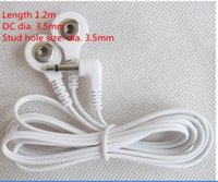 Wholesale DHLFreeshipping Snap in DC head mm electrode wire cable plug for EMS tens unit machine pluse therapy instruments massager