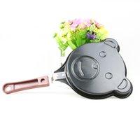 Wholesale Frying Pan Kitchen Gadget Cute Bear Design Non Stick Mini Metal Egg Pancakes