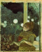 artist degas - Edgar Degas decoration oil painting Cafe Concert The Song of the Dog famous artist reproduction
