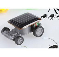 Wholesale 100pcs Mini Smallest Solar Powered Robet Racing Car Moving Drive Car Fun Gadget Toy For Kids