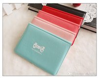 Wholesale ladies Leather Credit Card Holder Case card holder wallet colors Business Card Package PU Leather Bag