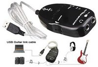 Wholesale Good quality PC MAC Recording Record with CD Driver New Guitar to USB Interface Link Cable Best Selling
