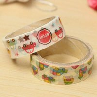 Wholesale Hobby Scrapbooking Album DIY Decorative Sticky Lovely Car Paper Tape School Office Crafting Adhesive