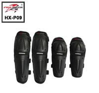 Wholesale 4Pcs set Motorcycle Motorbike Racing Motocross elbow knee protective Pads Guards Protective Gear