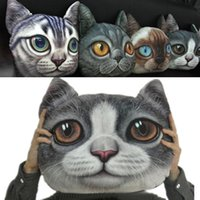 animal shaped chairs - 3D printing Animal Chair Pillow Personality Car Cushion Creative Handsome Cat Shape Pillow Cute Seat Cushion
