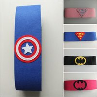 Wholesale felt belt superhero belts kids cotume accessories superman batman spiderman Captain America ironman superhero cosplay kids toys