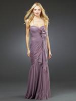 Cheap 2016 Stunning Sweetheart Tiered Tulles Flower Asymmetrical Ruffles Mermaid Bridesmaid Dresses Light Purple Custom-made With Fine Workmanship