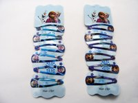 baby pin jewelry - Frozen Elsa Anna Olaf hair clips hairpin Barrettes Headwear baby hair pin cutely Children girl jewelry