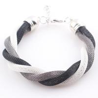beaded metal mesh - Fashion Multi Colors Metal Chain Braided Bracelet Women Friendship Mesh Bracelet Bangles Femininas Bijuterias JJAL B333