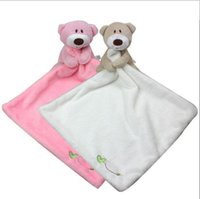 Wholesale 2015 new baby stuff cute bear baby towel soft baby appease towel comfortable baby appease toys toddler toys