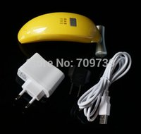 banana plug leads - Real Top Fashion Nail Dryer Yellow Beaunix Banana Soak off Nail Polish Uv Gel Led Lamp Timer v W multi Plug