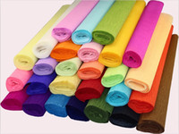 bathroom handmade paper - 2015 New cm Roll DIY Flower Gift Decoration Wrapping Packing Crepe Papers DIY Handmade Materials of Crinkled Paper TJ185