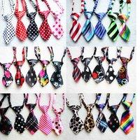 Wholesale 50 Fashion Polyester Silk Pet Dog Necktie Adjustable Handsome Bow Tie Necktie Grooming Supplies