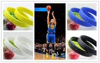 Wholesale P0590 Warrior Basketball MVP Stephen Curry Sports Basketball Bracelet Golden State Power Bands Balance Energy Silicone Wristband