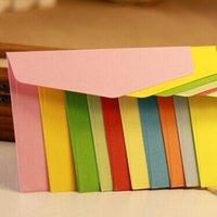 big envelope - 10 Colors cm Triangle Sealing Western style Envelope Candy Colors Creative Fine Envelopes For Gift Card Big Storage Envelope Zakka