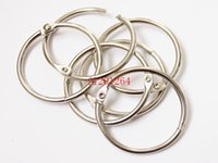 album binder - 200pcs DHL mm Book Hoop Binding Rings Binder Hoops Loose Leaf Ring Scrapbook Album DIY keyring