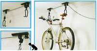 bicycle storage system - Bicycle Lift Hoist Ceiling Mount Bike Storage Display Hanger Roof Rack Hook Garage Stand Easy To Use Pulley System