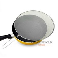 Wholesale Flat Draining Net Strainer Stainless Steel Splatter Screen Cooking Frying Tool CM