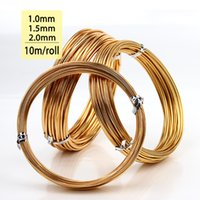 aluminum wire coil - mm mm mm Champagne Gold Colored Aluminum Jewelry Craft Soft Wire Coil m roll DIY Craft Aluminium Wire Top Quality