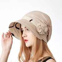 berret hats - New Female Summer Cotton Sun Hats Korean Berret Windproof Casual Cap Outdoor Travel Foldable Hat Portable Cap For Woman