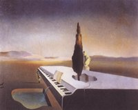 Oil Painting abstract piano art - famous Salvador dali Paintings Necrophiliac Fountain Flowing from a Grand Piano High quality Canvas art for bedroom Hand painted