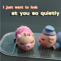 Wholesale The car car decoration kiss pig jewelry creative cartoon cute little doll piggy doll high grade Jushi ornaments