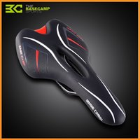 Wholesale BaseCamp Elastic Sponge Pad Mountain Bike Waterproof PU Leather Cover Bicycle Saddle Cycling Hollow Saddle Cushion White Black