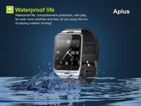 Wholesale Aplus GV18 Bluetooth Smart Watch phone GSM NFC Camera Waterproof Wristwatch support SIM card Smartwatch for smartphone