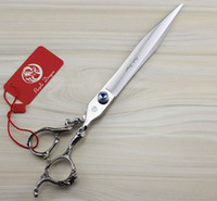 Wholesale 8 INCH High Quality Dragon Handle Professional Pet Dog Cutting Scissors Shear with leather Bag
