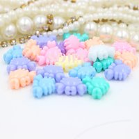 Cheap Free shipping 15*11m 150pcs colorful Cute crab cartoon Acrylic Beads Double Opening for DIY Loom Rubber Bands Charm Bracelets