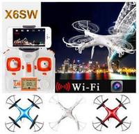 Date Cheap X6sw WIFI FPV jouets RC Camera hélicoptère drone quadcopter drones professionnels GoPro avec caméra HD VS X5SW X600 Drone DHL