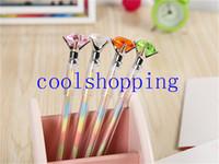 Wholesale DHL Freeshipping Mixed mm Bling Bling Diamond Crystal Rainbow Gel Pen Cute School Gel Pen