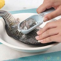 Wholesale 1Pc New Fish Skin Scraping Fish Scale Brush Graters Fast Remove Kitchen Gadgets VGQ
