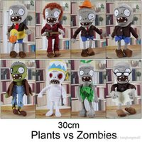 educational games for children - 30CM Plants vs Zombies Soft Plush Toy Doll Game Figure Statue Baby Toy for Children Gifts Party toys Hot sales