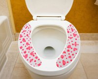 apple toilet - FBH051002 sticky toilet mat thickening can be repeatedly washed color two piece seat covers accessories apple pattern