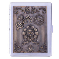 Wholesale Russian Cigarette box crafts Embossed painting lion design Cigarette case Practical gifts for smoker Father or grandfather