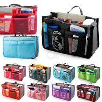 Wholesale Lady Women Insert Handbag Organiser Purse Large liner Organizer Bag Tidy Travel Brand New Good Quality