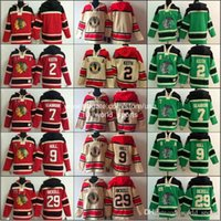 blank hoodie - Cheap Chicago Blank Duncan Keith Seabrook Hull Bickell Red Cream Green Blackhawks Nhl Ice Hockey Stitched Old Time Hoodies Jerseys