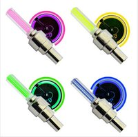 bicycle wheel bags - 2015 Fashion Firefly Spoke LED Wheel Valve Stem Cap Tire Motion Neon Light Lamp For Bike Cycle Bicycle Car Motorcycle with opp bag
