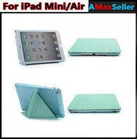 Cheap Ultra thin Portable M Design Transparent Back Clear Case + PU Leather iPad Air Cases Holder Stand Cover for iPad 5 Air iPad Mini mini Retina