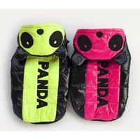 Wholesale Panda Cotton padded Coat Fashion Pet Apparel Thermal Down Jacket