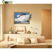 barge yacht - Umiwe High Definition Fashion D Yacht Barge Wall Stickers