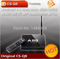 Wholesale Original CSQ8 AW80 Android TV BoX Octa Core G G ac G GHz WiFi K K H SATA Smart TV Linux RJ45 DLNA Miracast
